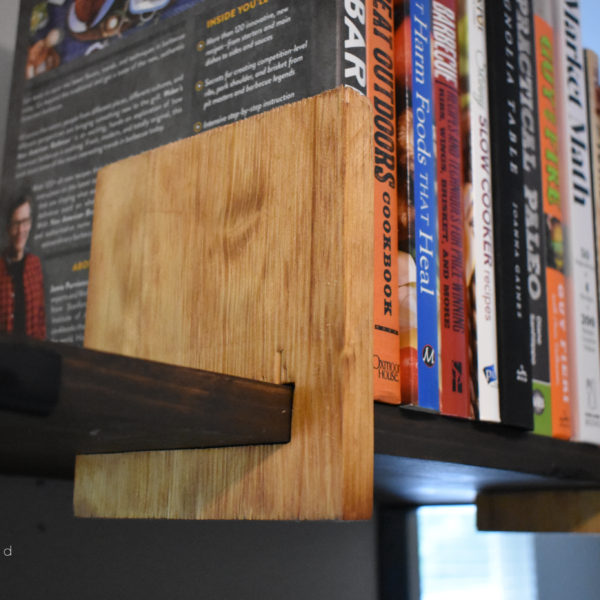 This Scrappy Saturday project is sliding bookends for open shelving. These sliding bookends are a great addition to any room with open shelving. This is a fun and quick project to complete!