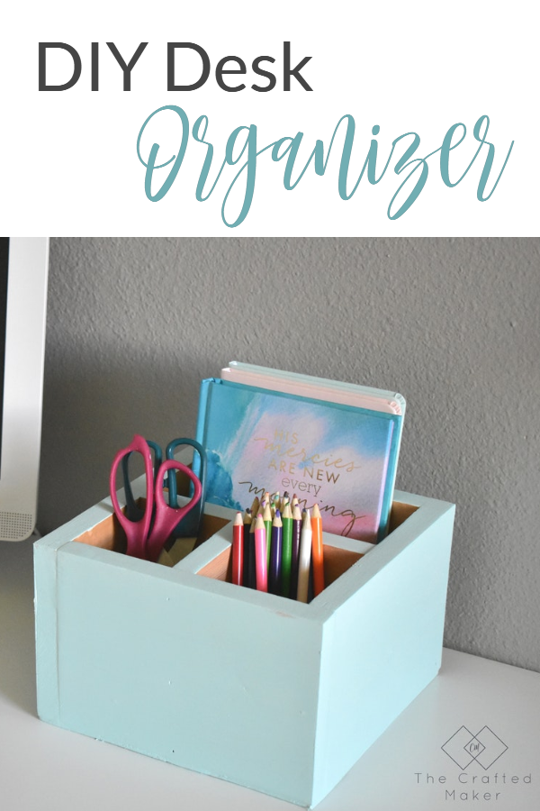 Do you ever feel like you need more organization on your desk or work area? Build this easy and simple DIY desk organizer in a couple of hours. #deskorganizer #scrapwoodprojects #officeaccessories #maker