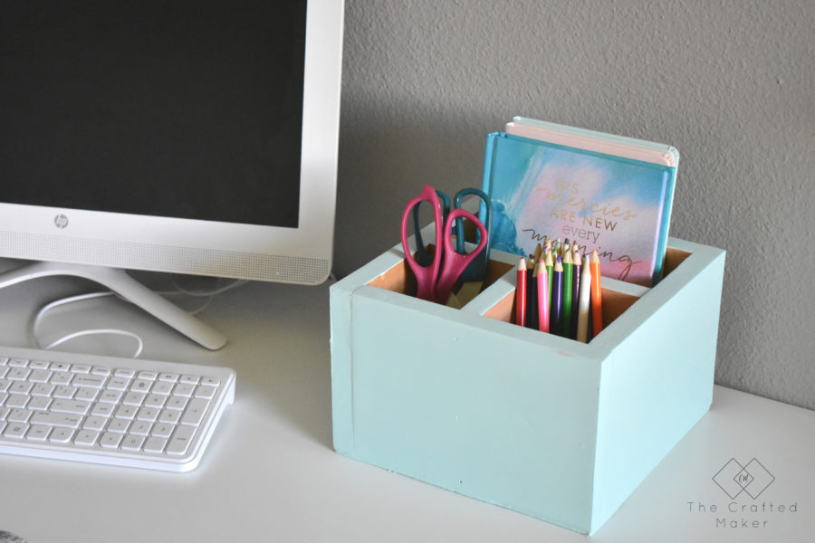 Do you ever feel like you need more organization on your desk or work area? Build this easy and simple DIY desk organizer in a couple of hours.