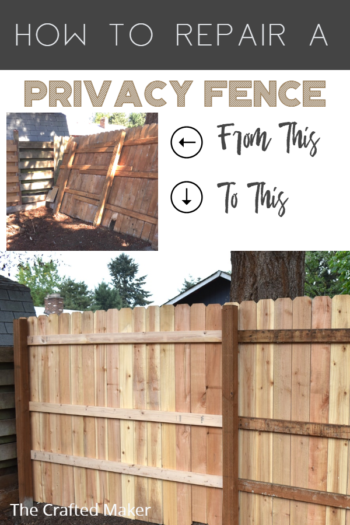 Privacy fences are a great thing to have, but they can get damaged over time from the elements. Here is how to repair a privacy fence. #homerepair #privacyfence #fixingafence #outdoorprojects