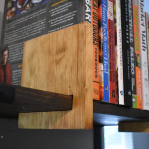 Sliding Bookends for Open Shelving